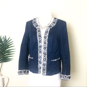 WHBM embellished blazer